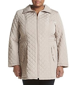 Gallery® Plus Size Quilted Front Zip Jacket