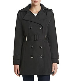 Calvin Klein Petites' Notch Collar Trench Coat