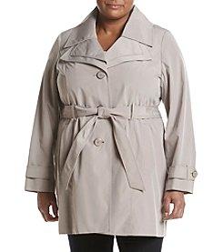 London Fog® Plus Size Double Collar Trench Coat