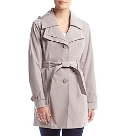 London Fog® Petites' Double Collar Trench Coat