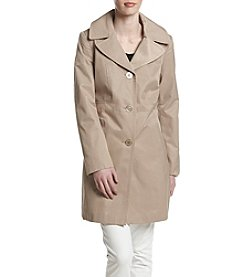 Anne Klein® Single Breasted Walker Coat
