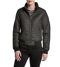 Andrew Marc® Quilted Bomber Jacket