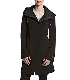 Gallery® Tonal Print Trench Coat