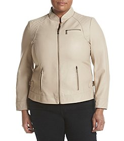 Gallery® Plus Size Scuba Jacket