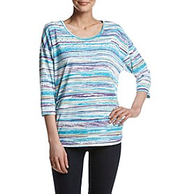 Breckenridge® Petites' Stripe Studded Knit Top