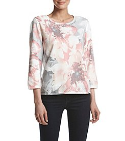 Alfred Dunner® Exploded Floral Sweater
