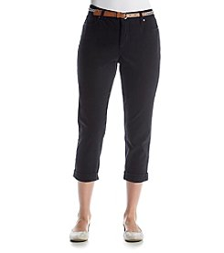 Gloria Vanderbilt® Petites' Stefania Slim Roll-Up Ankle Crop Pants