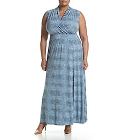 MICHAEL Michael Kors® Plus Size Reptile Print Maxi Dress