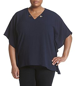 MICHAEL Michael Kors® Plus Size Chain Flutter Top