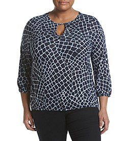 MICHAEL Michael Kors® Plus Size Print Peasant Top