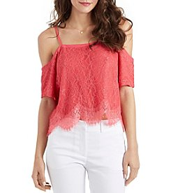 XOXO® Lace Off-Shoulder Top