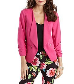 XOXO® Ruched Sleeve Blazer