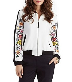XOXO® Embroidered Bomber Jacket