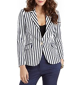 XOXO® Striped Boyfriend Blazer