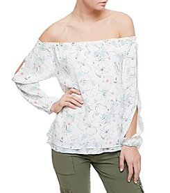 Sanctuary® Floral Off-Shoulder Peplum Top