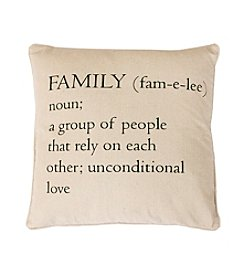 Family Definition Decorative Pillow