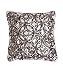 Gwyn Faux Gem Decorative Pillow