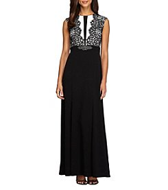 Alex Evenings® Lace Detail A-Line Dress