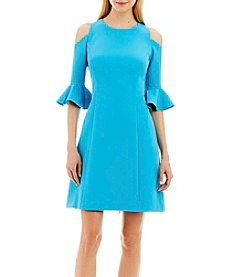 Nicole Miller New York™ Cold-Shoulder Scuba Dress