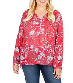 Lucky Brand® Plus Size Floral Top