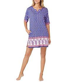 Ellen Tracy® Leaf Geo Sleepshirt