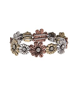 L&J Accessories Flower Stretch Bracelet