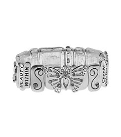 L&J Accessories Butterfly Link Stretch Bracelet