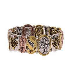 L&J Accessories Inspirational Stretch Tree Of Life Bracelet