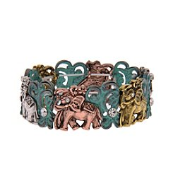 L&J Accessories Elephant Stretch Bracelet