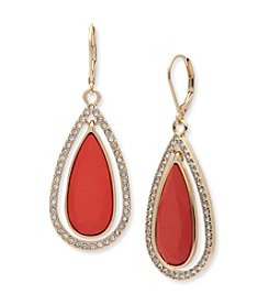 Anne Klein® Reconstituted Stone Teardrop Earrings