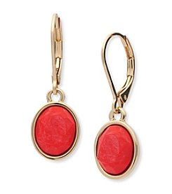 Anne Klein® Reconstituted Stone Drop Earrings
