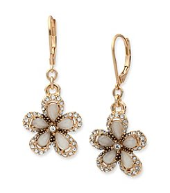Anne Klein® Flower Drop Earrings