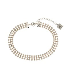Anne Klein® Simulated Pearl Choker Necklace