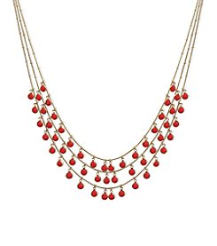 Anne Klein® Multi Row Shaky Necklace