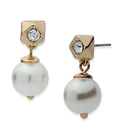 Anne Klein® Simualted Pearl Post Drop Earrings