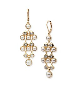 Anne Klein® Pearl Chandelier Earrings