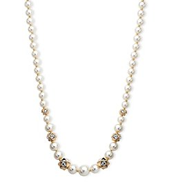 Anne Klein® Simulated Pearl Collar Necklace