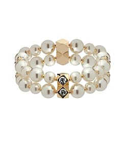 Anne Klein® Simulated Pearl Stretch Bracelet