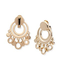 Anne Klein® Clip On Shaky Drop Earrings