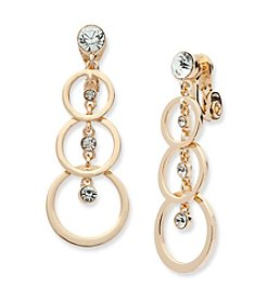 Anne Klein® Clip On Linear Drop Earrings