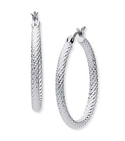 Anne Klein® Textured Hoop Earrings