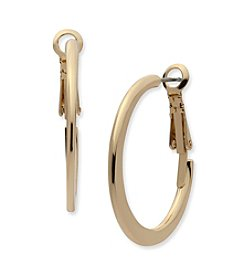 Anne Klein® Polished Hoop Earrings
