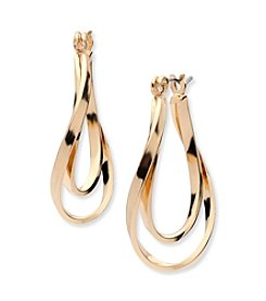 Anne Klein® Twist Hoop Earrings