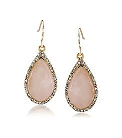 Carolee® Garden Party Stone Drop Pierced Earrings