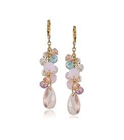 Carolee® Garden Party Cluster Drop Pierced Earrings