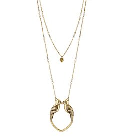 Lucky Brand® Kissing Bird Pendant Necklace