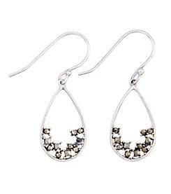 Victoria Crowne Genuine Marcasite Drop Earrings