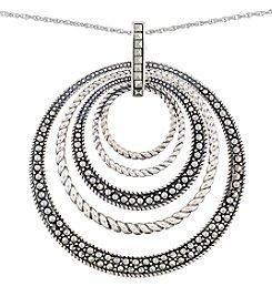 Victoria Crowne Genuine Marcasite Multi Circle Pendant