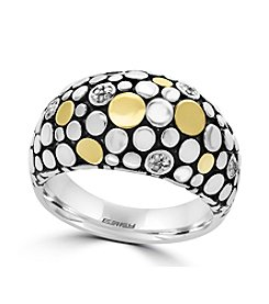 Effy® 925 Collection Sterling Silver And 18K Yellow Gold Diamond Ring