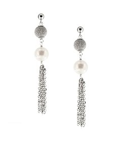Effy®  925 Sterling Silver Cultured Fresh Water Pearl Tassel Earrings